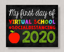 First Day of Virtual School 2020