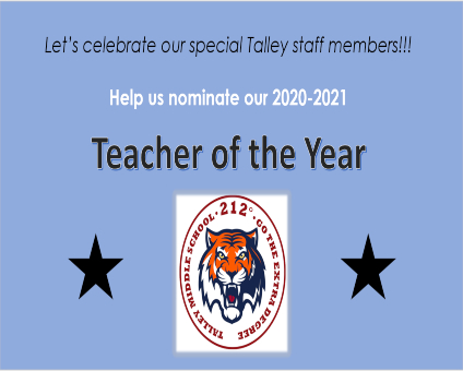 Nominate Talley's Teacher of the Year!