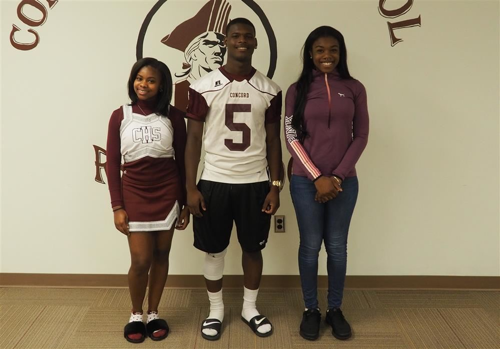 concord cheerleader and football player and friend