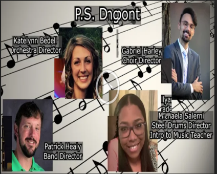 Music teachers from around the district